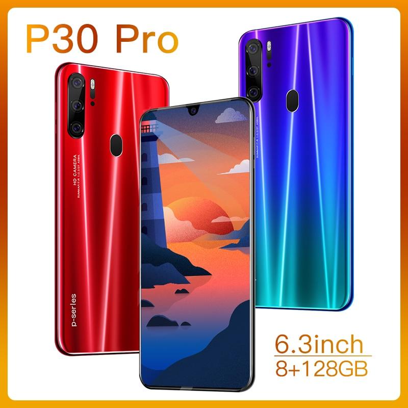 Глобальная версия P30 Pro 8 Гб 256 5G смартфон 6,3 дюймовый MTK 6595 10-ядерный подключается к сети 4g мобильные телефоны Android 9,1 сотовые телефоны
