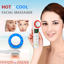 Hot and Cool facial Massager Eye Massager, Portable Handheld Sonic Electric Rechargeable Ion Facial Massager Anti-wrinkle Tight