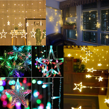 Christmas LED Light Decorations For Home Navidad Kids Baby Shower Birthday Wedding Bachelore Party Curtain decor Star String