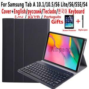 Keyboard-Case Funda Samsung Tab S6 Lite S5E A6 Galaxy for Tab-A S4
