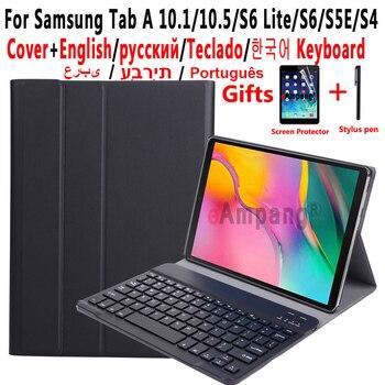 keyboard Case for Samsung Galaxy Tab A 10.1 2019 A7 2020 10.5 2018 Case Keyboard for Samsung Tab S6 Lite S5E S4 10.5 Cover Funda