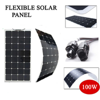 100w 200w 300w Solar Panel Sunpower Flexible High Quality 400w Photovoltaic Module monocrystalline Solar Cell C60 12V kit