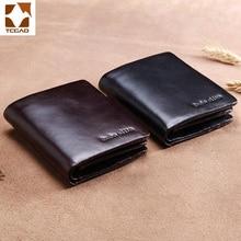 Leather Mens Wallet mens purse with a latch pocket Go Causal For partmon billetera cuero boton hombre Pocket Coin Purse