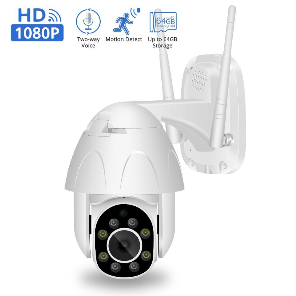 BESDER PTZ WiFi Camera 2MP Auto Tracking Cloud Storage Camera 4X Digital Zoom Speed Dome Waterproof CCTV Home Security IP Camera
