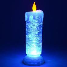 Światło świec LED bezpłomieniowe świece kolorowe RGB świeca światło elektryczne knot świeca LED kryształowe świece na dekoracje domowe na przyjęcie światło tanie tanio Nemobub CN (pochodzenie) Żarówki LED Rohs About 10*26cm 1 year Flameless Candles RGB Candle Light Candle Lights RGB Candle Lamp