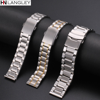 12mm 14mm 16mm 18mm 20mm 22mm 24mm Width Watch Band Stainless Steel Strap Five-bead Diving Accessories Tool - discount item  40% OFF Watches Accessories