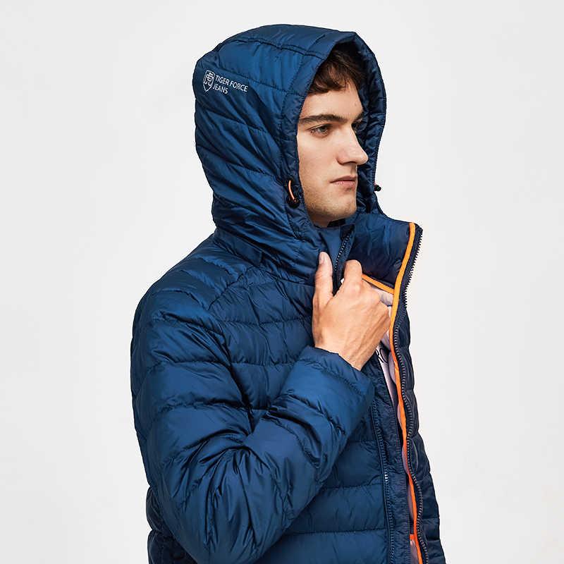 TIGER KRAFT 100% Polyester Frühling Herbst herren Jacke Männlichen Casual Mäntel Mit Kapuze Oberbekleidung Hohe Qualität Männer Parkas mit Hoody