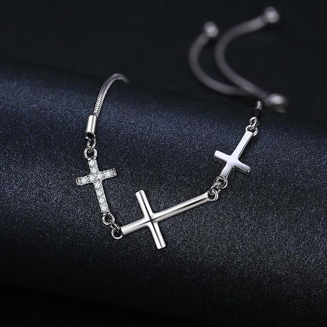 Love Cross Sterling Silver Bracelet