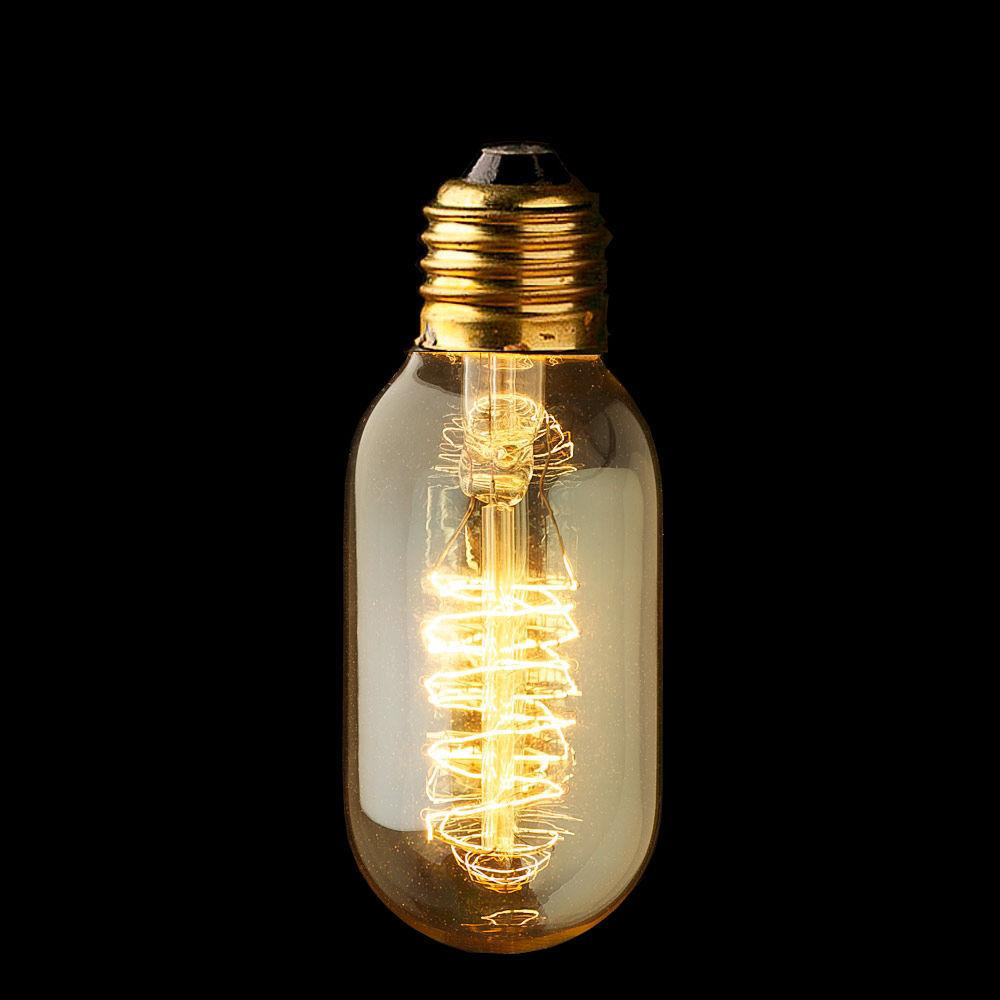Edison Tungsten Vintage E27 Incandescent Light Bulb Lamp 40W/220V Lighting T45