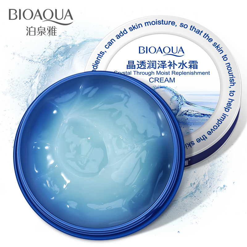 BIOAQUA Face Crystal Moisturizing Face Cream Skin Care Nourish Tight Filling Water Hyaluronic Acid Cream 38g