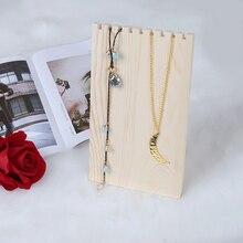 9 Slots Retro Wooden Jewelry Display Stand Pendant Earring Bracelet Display Board Desk Decoration Necklace Holder Board