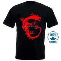 Черная футболка Msi Dragon Gaming Размер S 3Xl Мужская хлопковая футболка