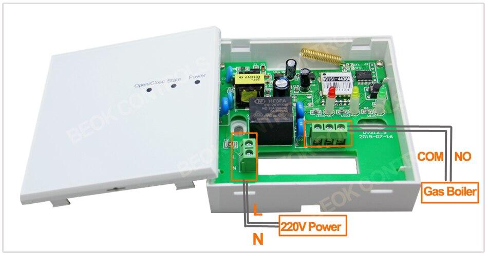 Termostato Calefacción Wifi y RF