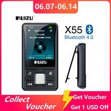 RUIZU X55 Clip Sport Bluetooth MP3 Player 8GB Mini with Screen Support TF Card,FM,Recording,E-Book,Clock,Pedometer Music Player