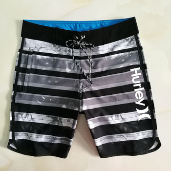 Hurley MEN'S Beach Pants Shorts Print Swimming Trunks New Style Summer Seaside Shorts Straight tube self-cultivation