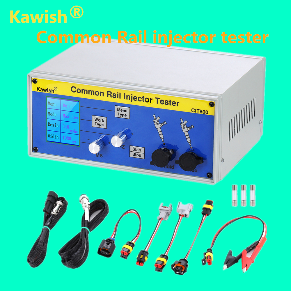 Kawish! Large LCD CIT800 Diesel Common Rail Injector Tester Diesel Piezo Injector Tester Electromagnetic Injector Driver