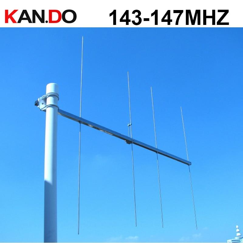 Portable V Band Yagi Antenna 143-147MHZ Gain 8dbi Amateur Repeater Antenna Two Way Radio Antenna Amateur Radio Antenna