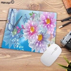 Image 5 - Mairuigeโปรโมชั่นใหม่ดอกไม้ผีเสื้อดอกไม้สวยงามคีย์บอร์ดGamingแผ่นรองเม้าส์ขนาดเล็กสำหรับ18X22CM Mousematsยาง