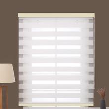 Cortinas de janela tamanho personalizado cortinas duplas camadas semi blackout tecido rolo zebra para casa