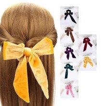 1шт волос веревки группы резинки эластичный бархат бант галстуки женские аксессуары сладкий оголовье хвост держатель