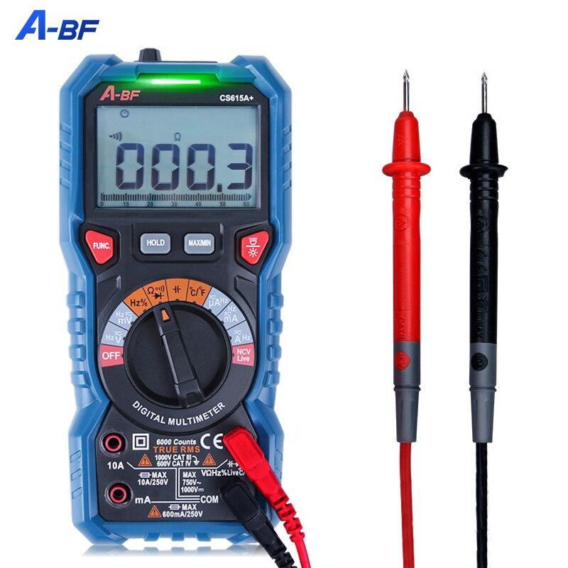 Цифровой мультиметр A-BF, интеллектуальный вольтметр-амперметр с автоматическим выбором диапазона и функцией True RMS, Бесконтактный индикатор ...