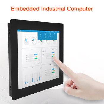 10 inch Aluminum alloyed fanless industrial touch panel pc with dual ethernet and 9 to 36V DC IN
