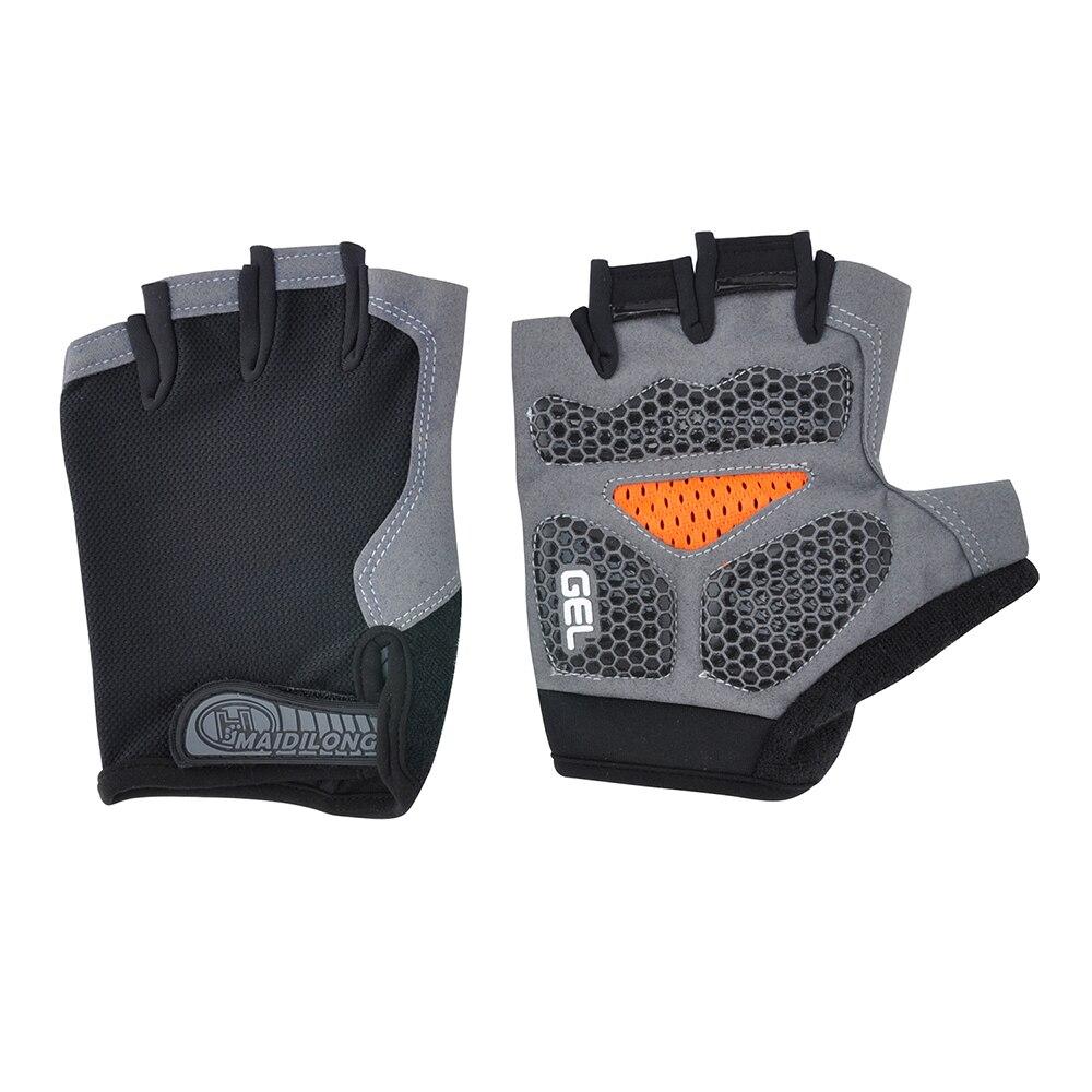Силиконовые противоскользящие спортивные перчатки для велоспорта, мужские и женские перчатки с открытыми пальцами, дышащие противоударны...