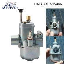 Sclmotos- 15mm Bing clon carburador para Puch COBRA DAKOTA del MACHO moto Dit Pit Bike carburador de la motocicleta Carb SRE 1/15/46A
