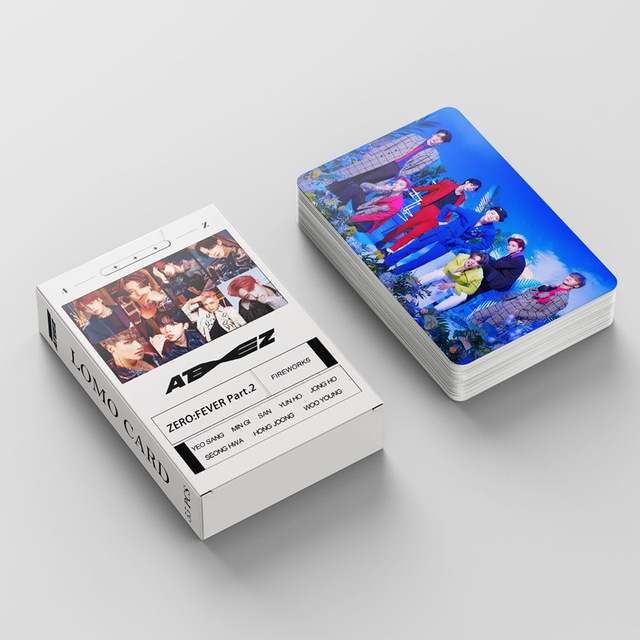 55pcs/set ATEEZ Lomo Cards Photo Album ZERO : FEVER Part.2  1