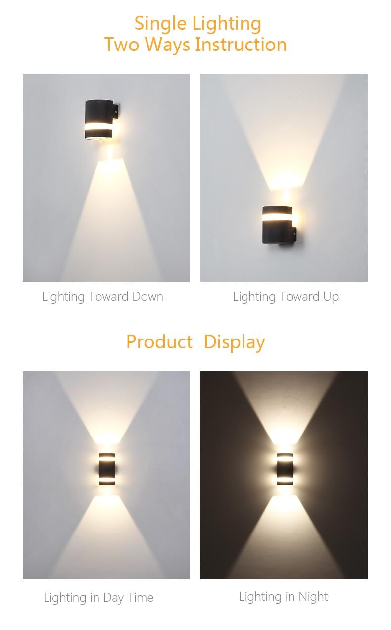 led à prova dwaterproof água alumínio lâmpada
