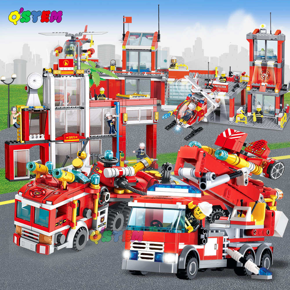 774pcs legoing city fire 601100 with fire car fire airport fire mech fire station fire boat <font><b>60109</b></font> image