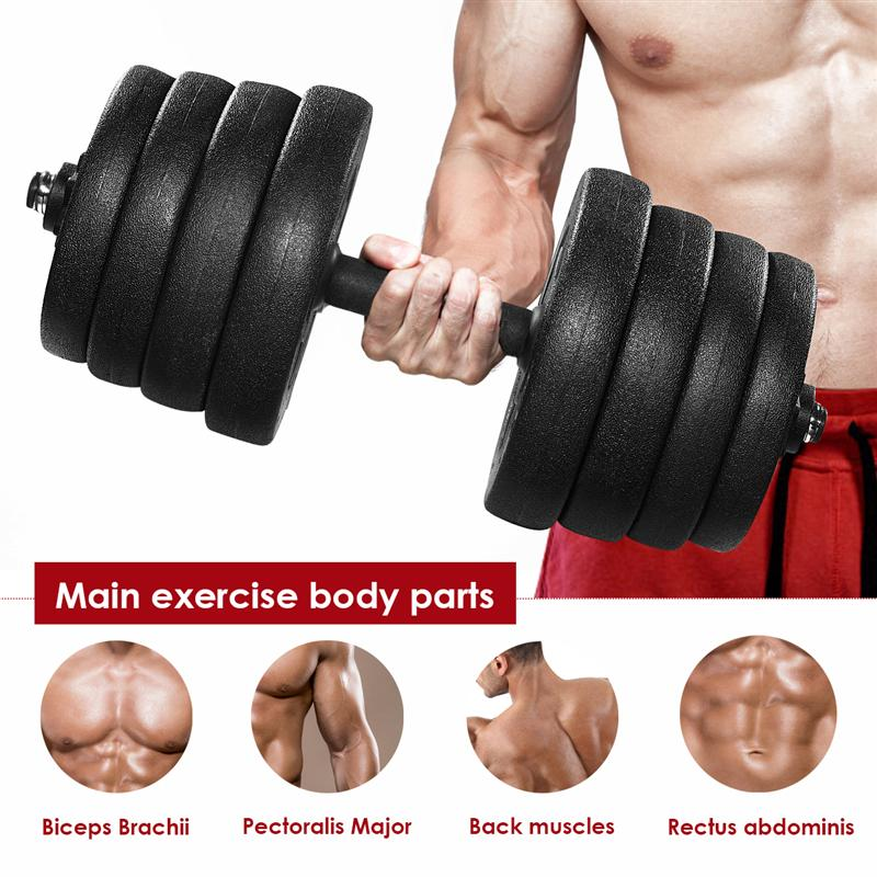 Adjustable A Pair of 30kg Dumbbell Weight Set Solid Fitness Dumbbell Set Safety and Non slip