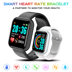 D20 Men Smart Watch Waterproof Blood Pressure Y68 Smartwatches Heart Rate Monitor Sleep Tracker Clock Watch For Android IOS