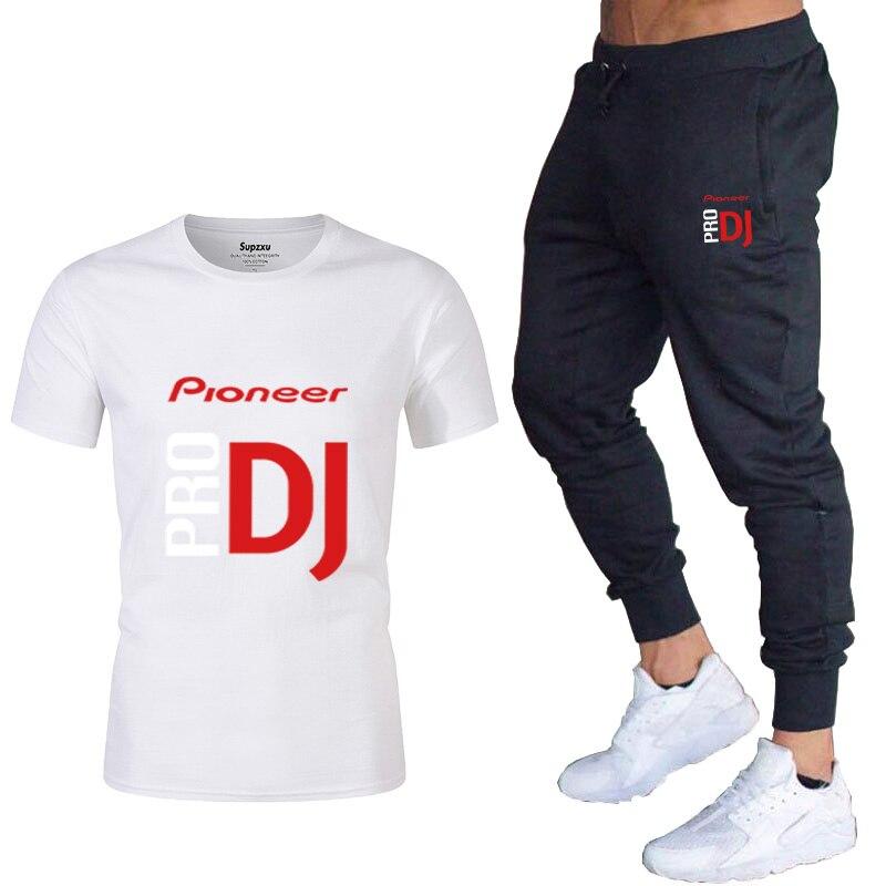 Мужской спортивный костюм из футболки и брюк Повседневная футболка