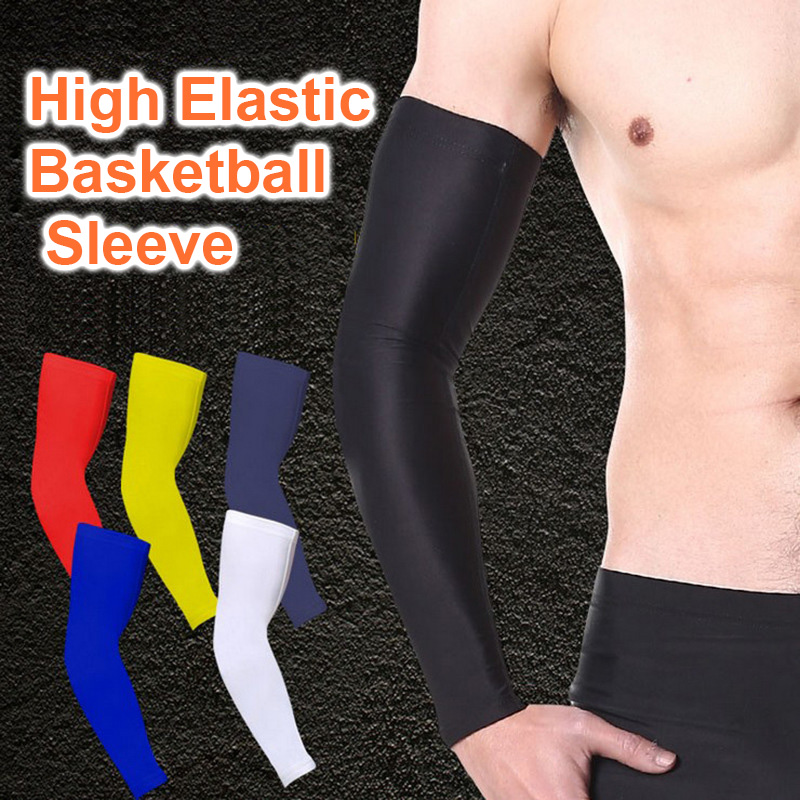 Outdoor cycling sports sleeves running sun protection sleeves non-slip silicone ice silk UV protection basketball arm guards