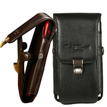 For iPhone/Samsung/Xiaomi/Huawei Universal Phone Pouch Cover Case for 11 12 Pro Max Outdoor Leather Belt Clip Hanging Waist Bag