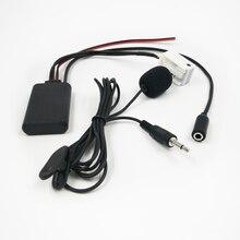 Bluetooth AUX аудио адаптер Biurlink, беспроводной микрофон для звонков, громкая связь, 12Pin разъем для Peugeot RD4 радио