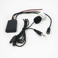 Biurlink Bluetooth AUX Audio Adapter Drahtlose Anruf Mikrofon Freisprecheinrichtung 12Pin Stecker für Peugeot RD4 Radio