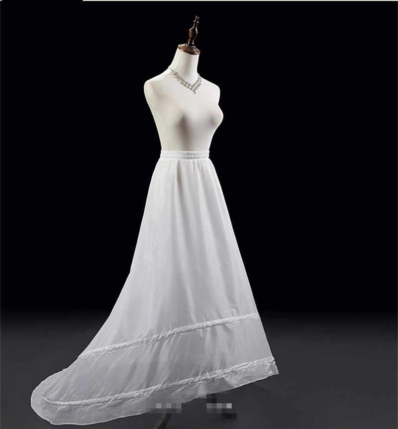 Weiß Meerjungfrau Petticoats für Brautkleider 2019 Krinoline Jupon Frauen Unterrock Sottogonna Unterrock