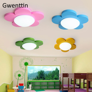 Ultra-thin Flower LED Ceiling Light Modern Ceiling Lamp Surface Mount Lights Children's Room Foyer Bedroom Home Decor Luminaire