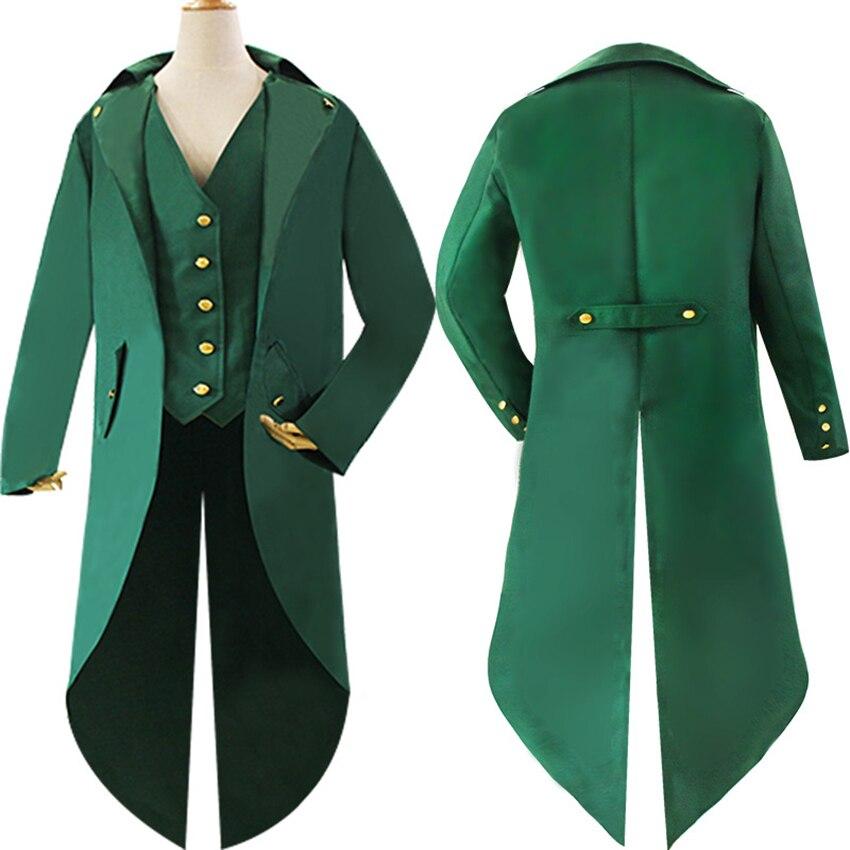 Médiéval rétro hommes Swallowtail manteau Style médiéval vapeur Punk Cosplay Costumes palais robe Halloween fête Cosplay vêtements homme