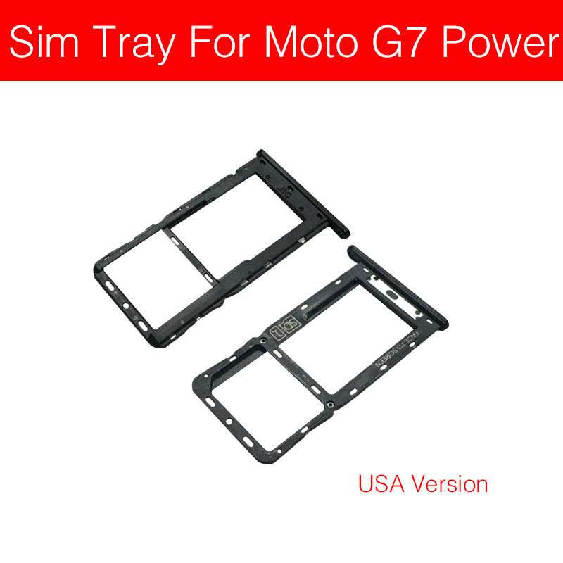 Sim Card Tray Holder For Motorola Moto G7 Power America USA Version Sim Micro Reader Card Slot Adapters Card Socket Repair Parts