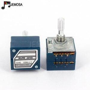 Image 3 - 1PC יפן האלפים RK27 נפח יומן סטריאו פוטנציומטר 2 כנופיה כפולה 10 K/20 K/50 k/100 K/250 K פוטנציומטר מוט מחורץ + PCB