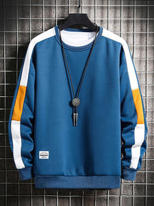 Harajuku Sweatshirts Hoodie Mens O-Neck Long-Sleeve Casual New-Fashion 6-Color for Young
