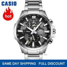 Casio Edifice zegarek mężczyźni Wybuch top marka luksusowy zestaw nowy zegarek kwarcowy 100 m Wodoodporny zegarek męski Sport wojskowy zegarek na rękę Podwójna tarcza Czas światowy Zegarki świecące relogio masculino