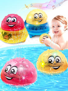 Bath-Toys Sprinkler-Ball Light Water-Spray Electric-Induction Baby Infant Children Funny