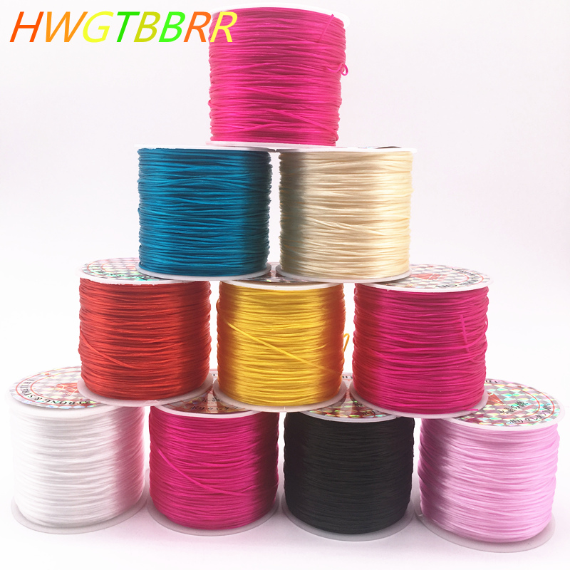 50M/Roll  Colorful Flexible Elastic Crystal Line Rope Cord For Jewelry Making Beading Bracelet Wire Fishing Thread Rope