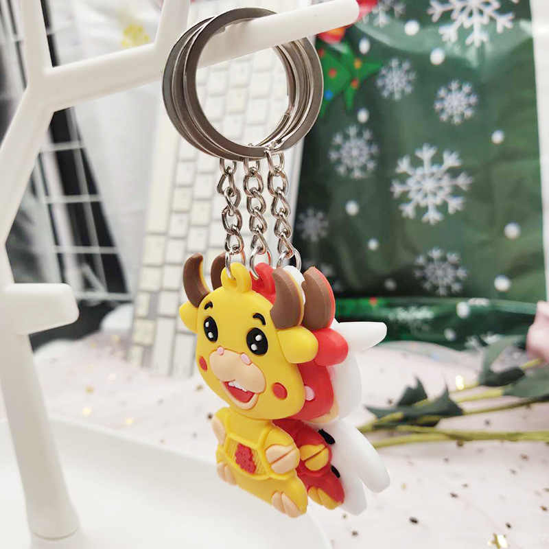 The ox 2021 keychain bag pendant key chain year of the Ox gift to Personalize for free