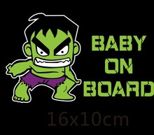 2020 New Superheroes Baby on Board Reflective Car Stickers and Decals Funny Decoration Pvc Sunscreen Waterproof,15cm*10cm 6zstickers sugar skulls reflective stickers decals waterproof sunscreen motogp x15