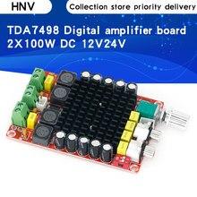 Amplificador Digital de alta potencia TDA7498, Clase D, 2x100w, amplificador de audio 24V DC 12V